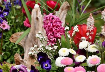 Jarní atmosféra v interiéru díky svěžím květinám