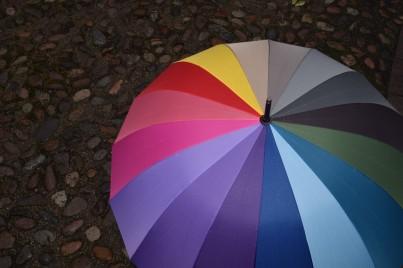 Stylový deštník do deštivého počasí